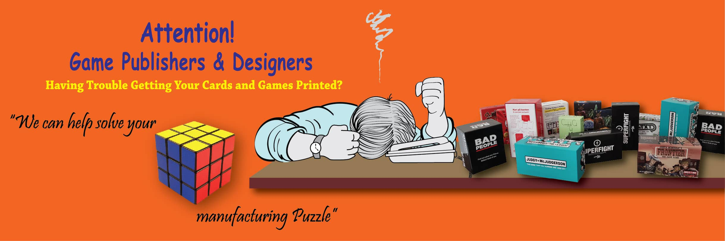 Attention Game publishers  & Designer